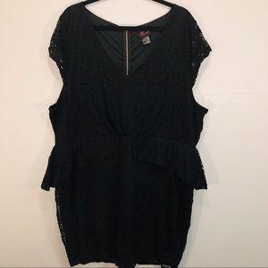 Torrid Black Lace Peplum Dress Size 5